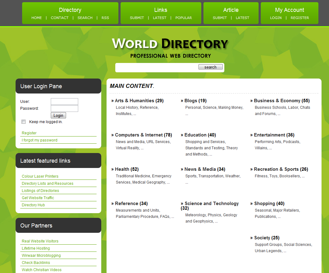 Php link directory template archive list of templates for version42 wajeb Image collections