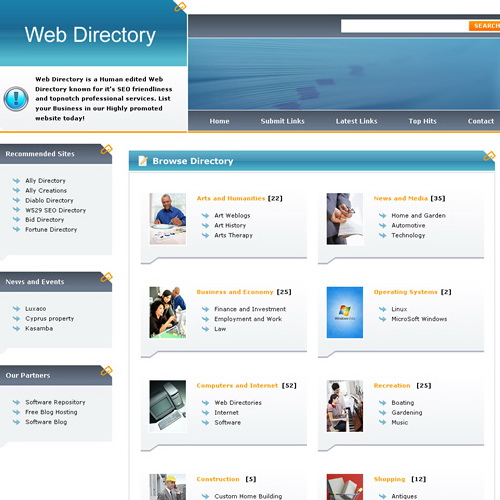 Web Directory Theme Template