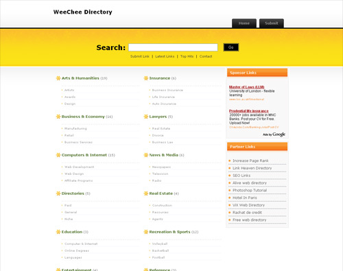PHP Link Directory Template Archive - List of Templates for ...